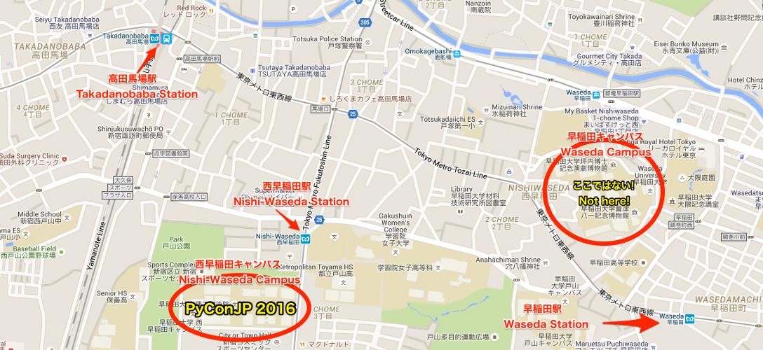 早稲田大学 Map